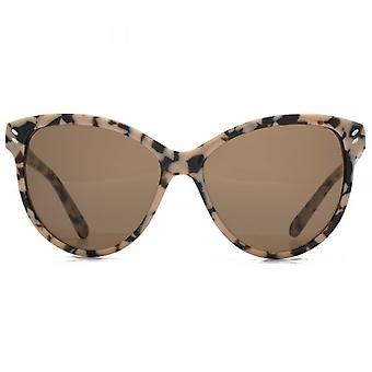 Stella McCartney Essentials Cateye Sunglasses In Beige Havana