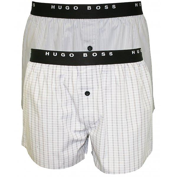 Hugo Boss 2-Pack Woven Boxer Shorts, Grey