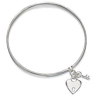 925 Silver Key And Heart Bracelet