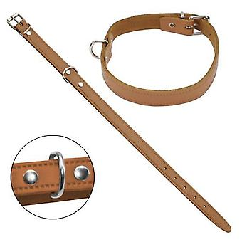 Petpall Collar Cuero Liso 35 Cm Natural (Dogs , Walking Accessories , Collars)