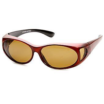 Polarisierte Abdeckung passen auf Überlappung Vollschutz Sonnenbrillen