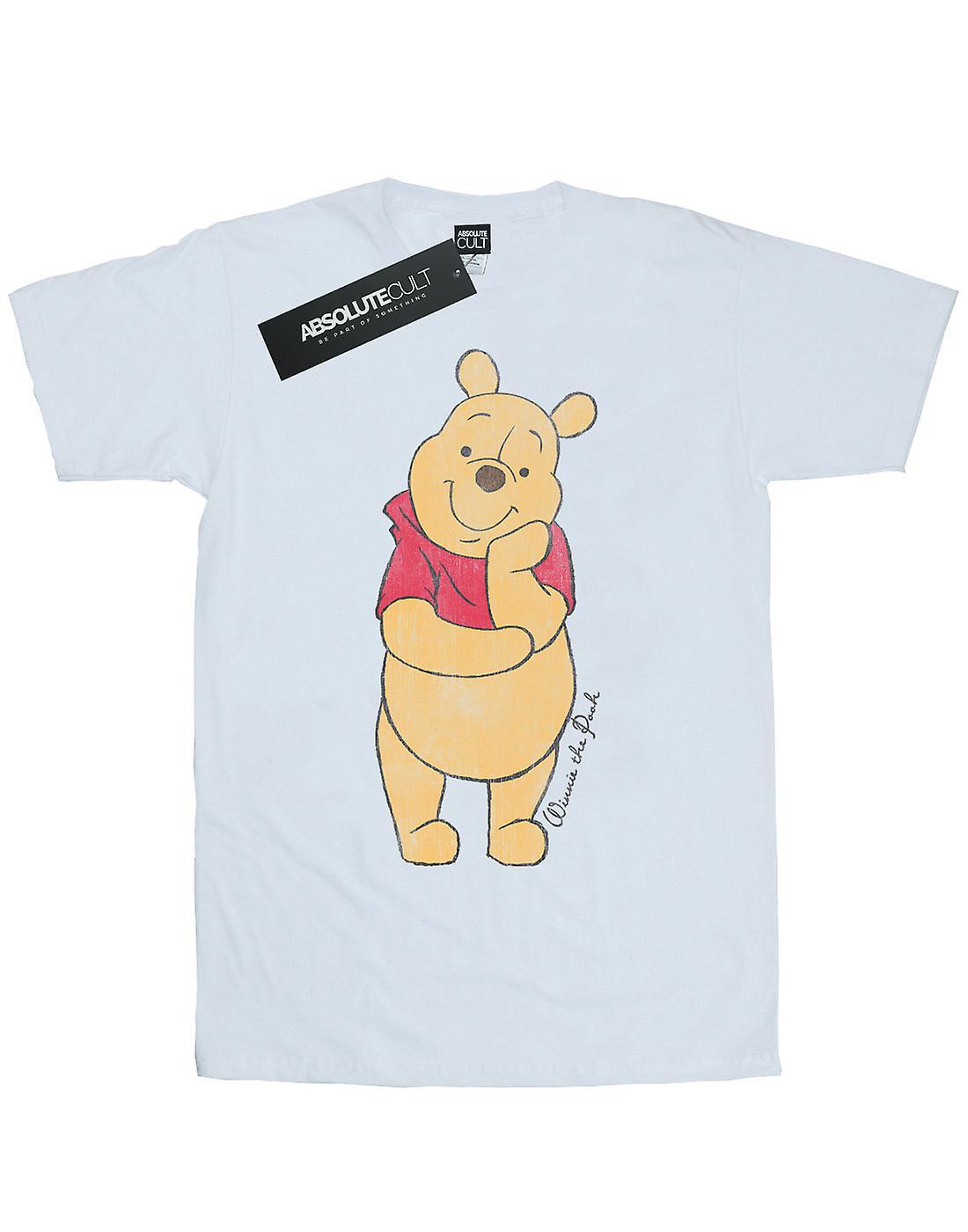Disney Women/'s Winnie The Pooh Classic Pooh Boyfriend Fit T-Shirt