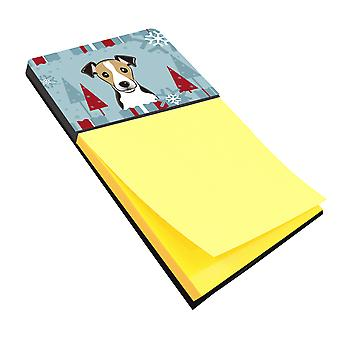 Winter Holiday Jack Russell Terrier Sticky Note Holder