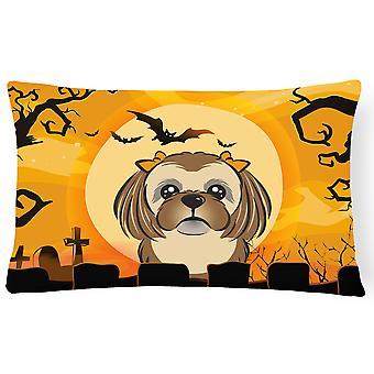 Halloween chocolade bruine Shih Tzu stof decoratieve kussen