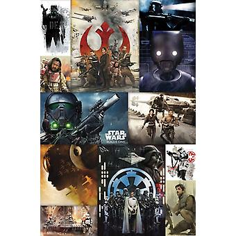 Star Wars Rogue - Collage Plakat Poster Druck
