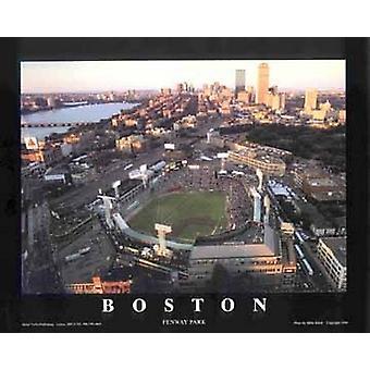 Boston Massachusetts - impresión del cartel de Fenway Park por Mike Smith (28 x 22)