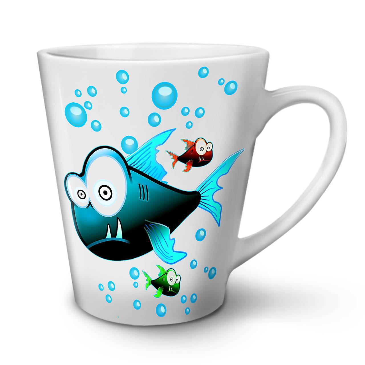 12 Tasse Café En Latte Nouvelle Poisson Céramique Monde L'eau OzWellcoda Blanche tshQrCd