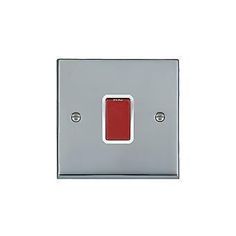 Hamilton Litestat Cheriton Victorian Bright Chrome 1g 45A Double Pole Red Rkr/WH