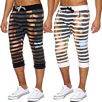 Men's Sweat shorts jogging sports shorts jogging 3/4 print printing new summer
