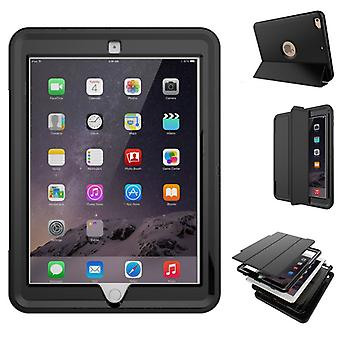 Multi-part hybrid outdoor protective cover case black for Apple iPad 2 / 3 / 4 Pocket wake UP 3folt