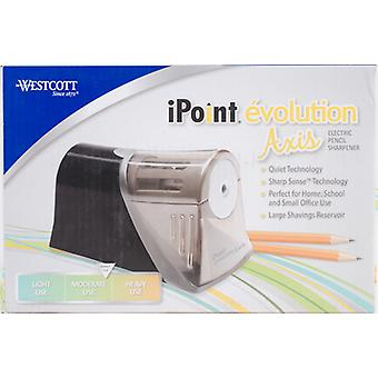 Westcott iPoint Evolution Achse Electric Pencil Sharpener-schwarz, Moderate Nutzung IP15510