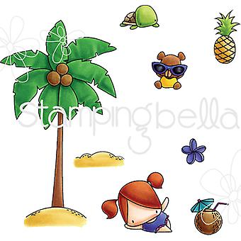 Stamping Bella Little Bits Cling Stamp Set-Palm Tree EB509