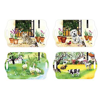 Melamine Dining Tray Serving Tray Food Drinks Tray Home Work Kitchen Restaurant