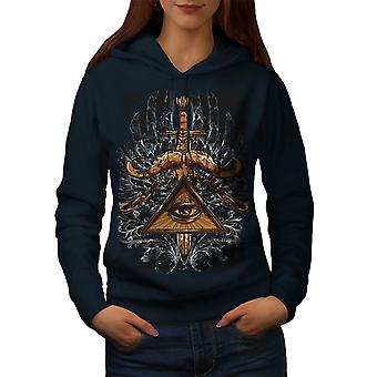 Triangle Society Women NavyHoodie | Wellcoda