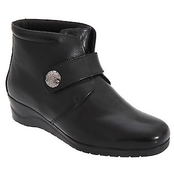 Mod Comfys Womens/Ladies Touch Fastening Centre Seam Ankle Boots