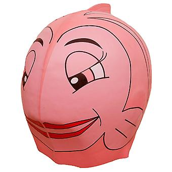 Swimfin Children's Swim Cap Pink Fish