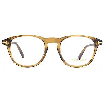 Tom Ford FT5389 Glasses In Shiny Dark Brown