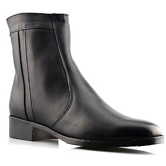 Mens New Scimitar Leather Smart Inside Zip Ankle Dress Boots Shoe
