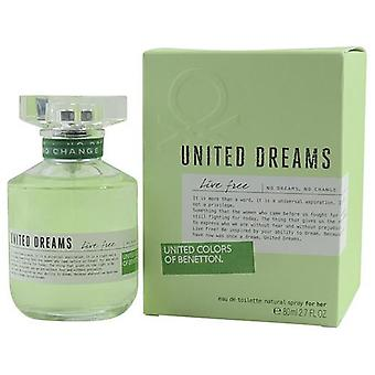 Benetton United Dreams Live Free By Benetton Edt Spray 2.7 Oz