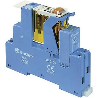 Finder 4C.02.9.024.0050 8A Relay Interface Module 2 changeover contacts. 24 Vdc