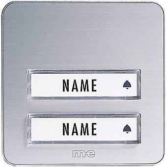 Bell panel with nameplate 2x m-e modern-electronics KTA-2 A/S