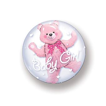 Double bubble balloon in balloon birth girl girl baby circa 60cm balloon