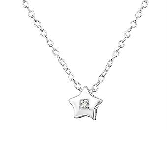 Star - 925 Sterling Silver Jewelled Necklaces - W35106x
