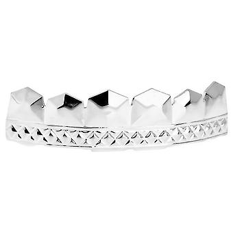 One Size Fits All Bling Grillz - CAESER TOP - Silber