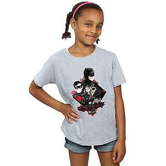 DC Comics Batman TV-Serie Charakter Skyline T-Shirt für Mädchen