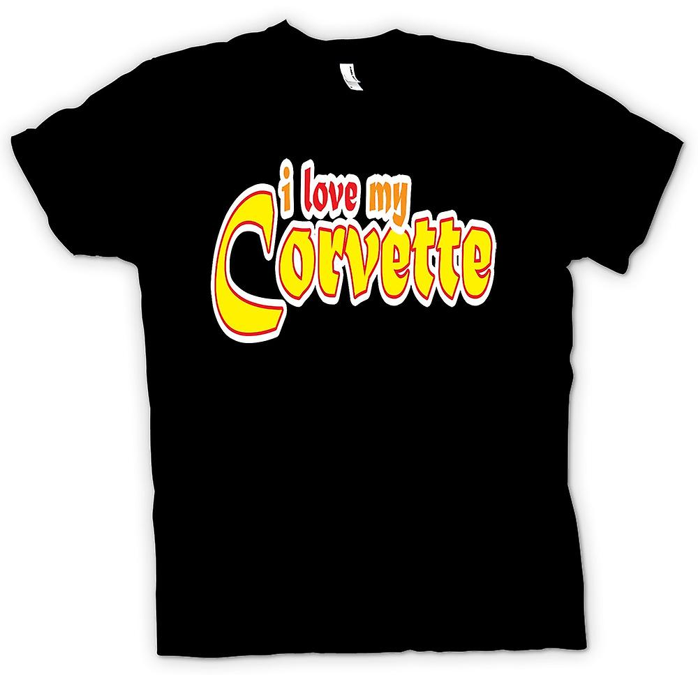 Mens T-shirt - I Love My Corvette - Car Enthusiast