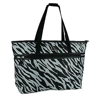 Skyddsling Zebra Stripe Laptop Travel Tote väska för kvinnor