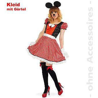 Mouse ladies costume Minniekostüm comic mouse Womens costume