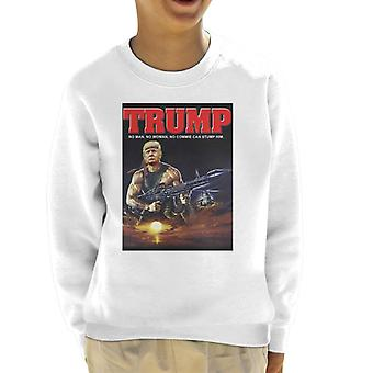 Donald Trump Rambo Muscle Man Kid's Sweatshirt