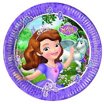 Sofia the first Mystic Isles Princess party plates Ø 23 cm 8 piece children birthday theme party