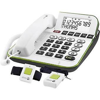 doro Secure 350 Corded Big Button incl. emergency call transmitter, Hands-free Backlit White