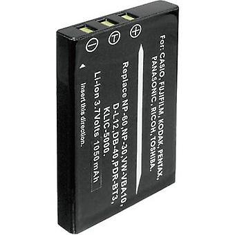 Camera battery Conrad energy replaces original battery NP-60, NP-30, KLIC-5000, D-L12, L