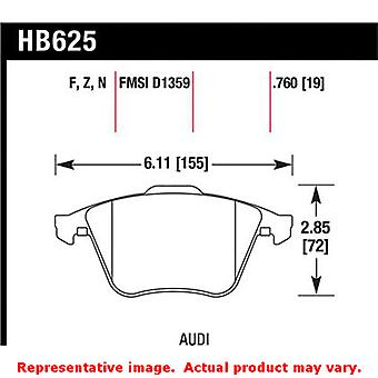 Hawk 'Performance Street' Brake Pads HB625Z.760 Fits:AUDI 2008 - 2008 TT  Posit