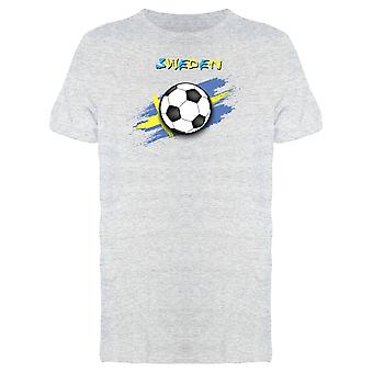 Sweden Flag With Soccer Ball Tee Men's -Image by Shutterstock