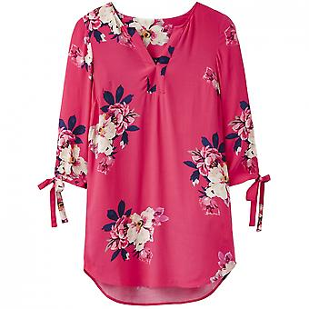 Joules Joules Odelle V Neck Womens Tunic With Tie Sleeves (Z)