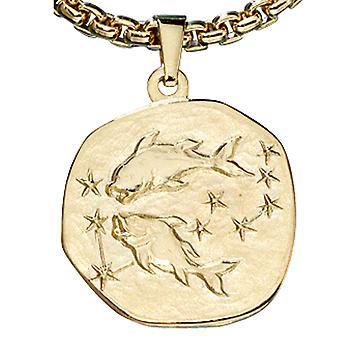 Znak zodiaku Ryby złota żółtego złota 333, ASTRO do przyczepy