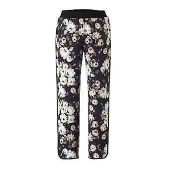 Guido Maria Kretschmer loose ladies trousers with floral print colorful