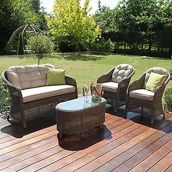 Maze Rattan Winchester Round High Back Sofa Set