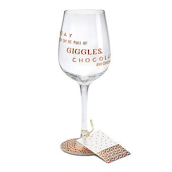 Here's To You Megan Claire Birthday Chocolate Wine Glass