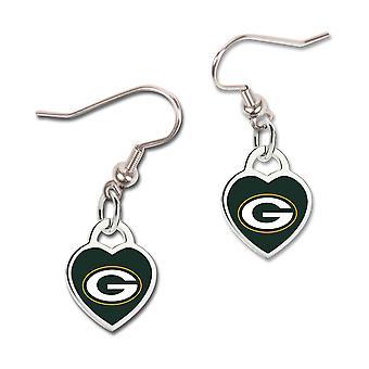 Wincraft ladies 3D heart earrings - NFL Green Bay Packers