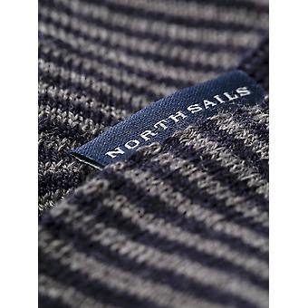 North Sails Reversibel Gestreifter Schal Aus Wolle Blend Kinder
