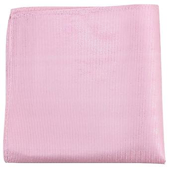 Knightsbridge Neckwear Ribbed Silk Pocket Square - Soft Pink