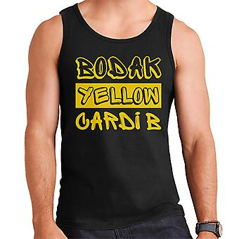 Cardi B Bodak Yellow Song Title Men's Vest