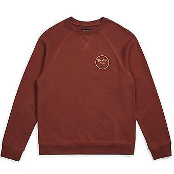 Brixton Wheeler Intl Sweatshirt Chestnut