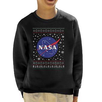 La Insignia clásica la NASA Navidad sudadera patrón infantil de punto