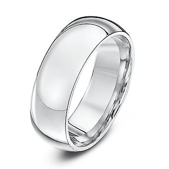 Anneaux de mariage Star lourds Cour forme 7mm mariage bague en or blanc 18 carats